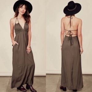 Love Stich Talia Olive Green Maxi Dress